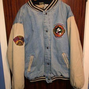 Other - Vintage Mickey Mouse varsity jean jacket